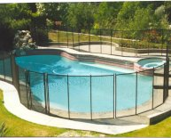 Safety fence around Pool